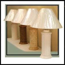 Chasco Cottage Herringbone Cylinder Table Lamp