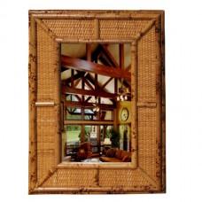 Chasco Burnt Rattan Oblong Mirror